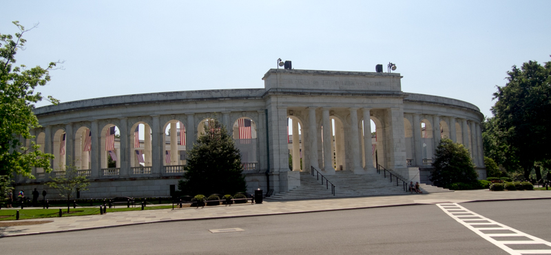 Memorial Amphitheater del Cementerio de Arlington en Washington DC