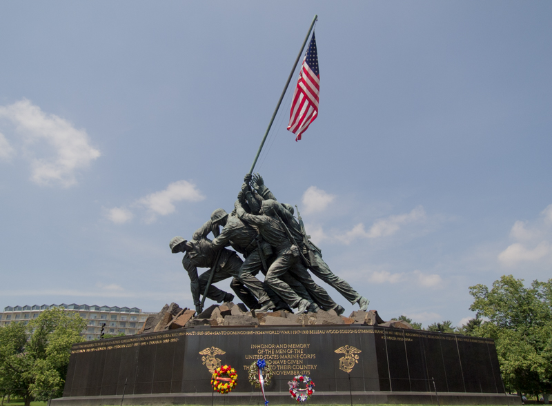 Iwo Jima Memorial en el Cementerio de Arlington en Washington DC