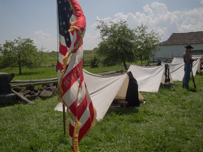 tiendas de los soldados de la Unión en Gettysburg