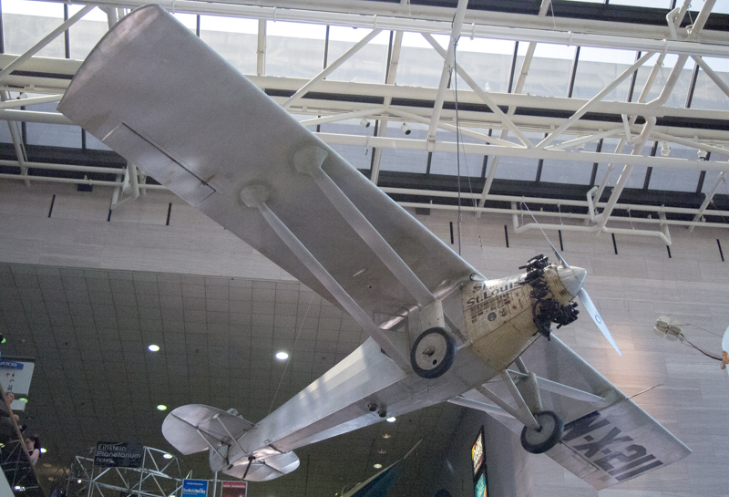 el Spirit of St. Louis en el Smithsonian Air & Space Museum de Washington DC