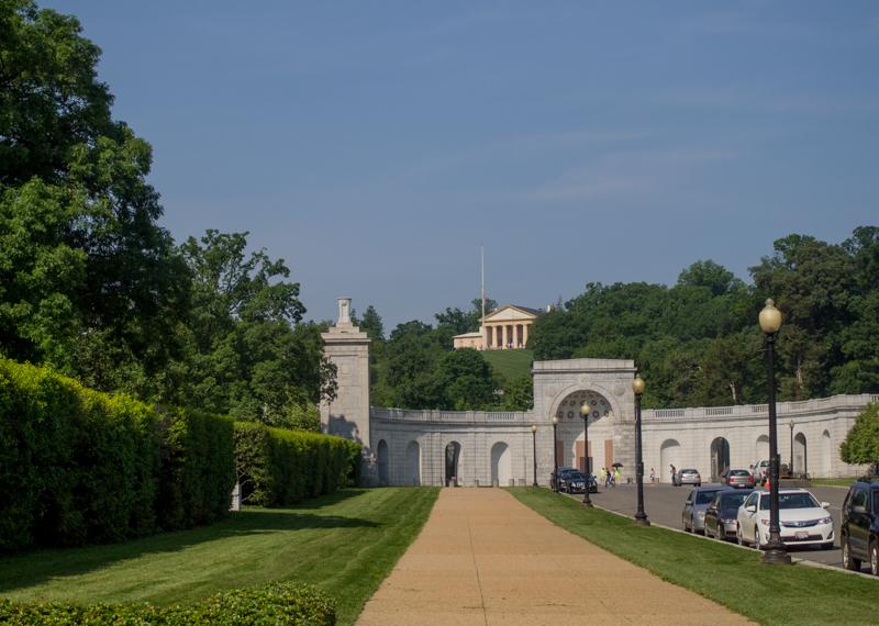 entrada al Cementerio de Arlington en Washington DC