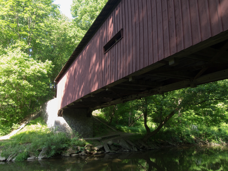 puente cubierto Kurt'z Covered Bridge en el Condado de Lancaster