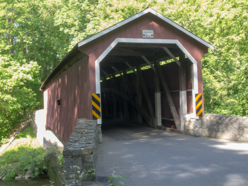 puente cubierto Kurt's Covered Bridge en el Condado de Lancaster