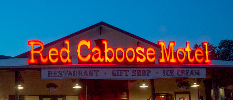 restaurante-motel Red Caboose en el Condado de Lancaster Pensilvania