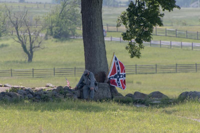 soldado en el campo de batalla de Gettysburg en Pensilvania