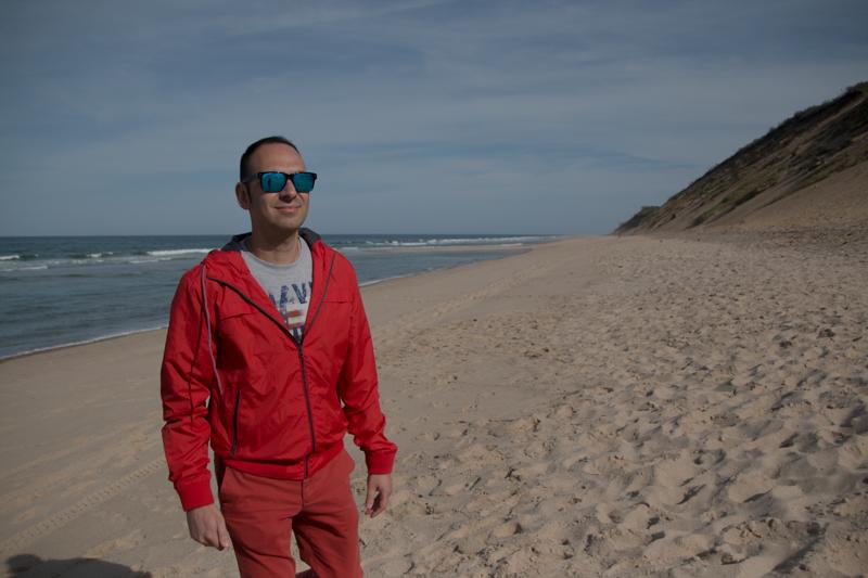 Sergio en la playa de Longnook Beach en Cape Cod Massachussets