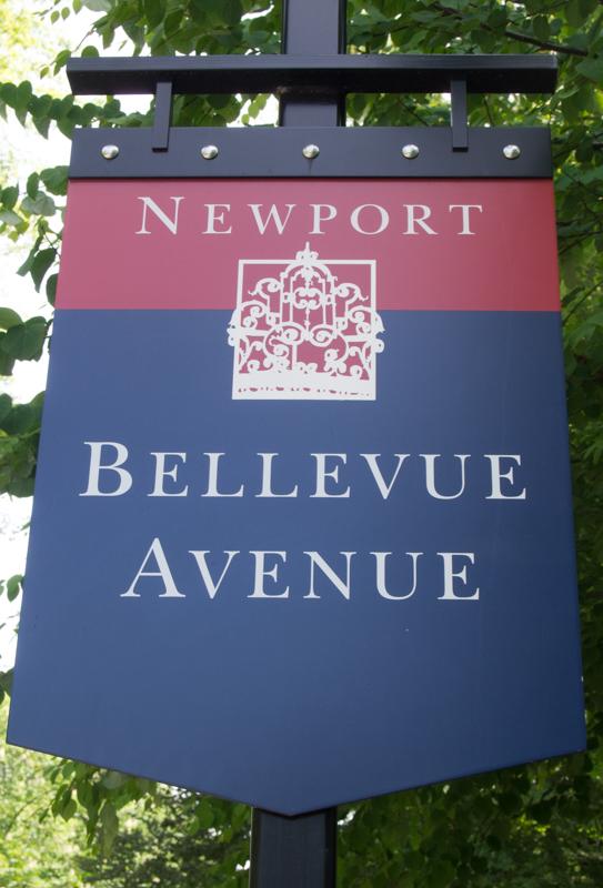 cartel del Bellevue Avenue en Newport Rhode Island