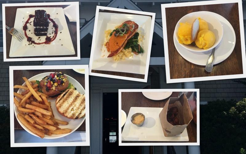collage restaurante The Mooring en Newport
