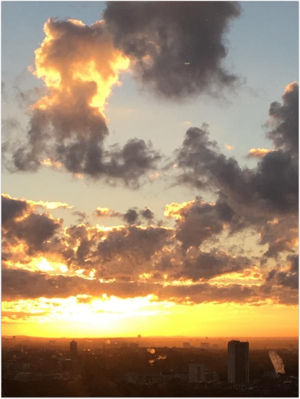 el cielo de Londres desde el London Eye