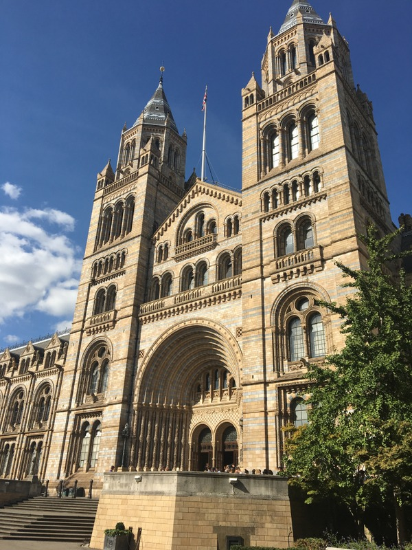 entrada del Museo de Historia Natural en Londres