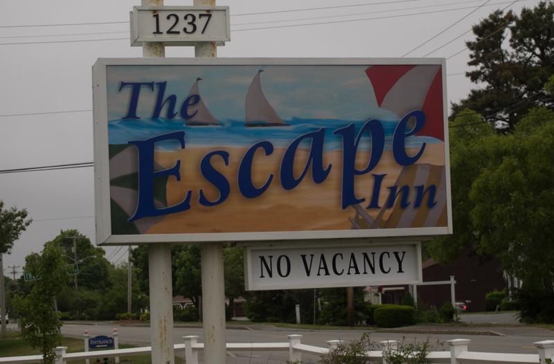 cartel del hotel The Escape Inn en Cape Cod