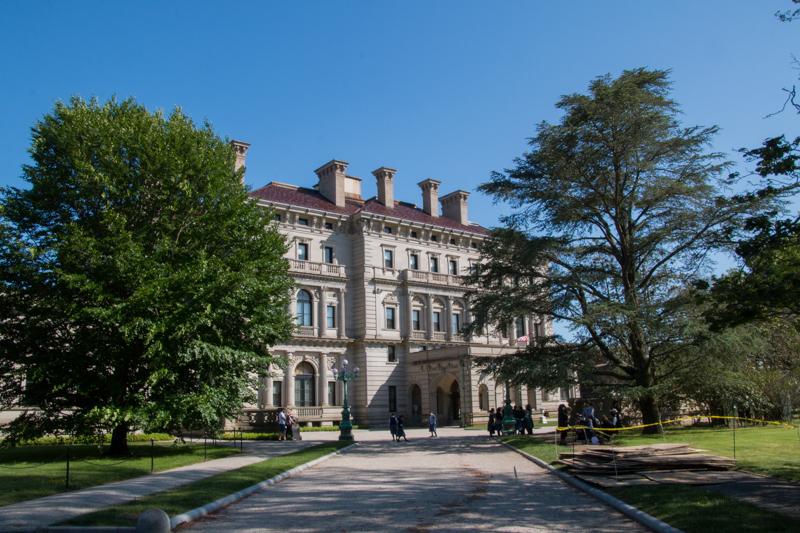 mansión The Breakers en Newport Rhode Island - parte delantera