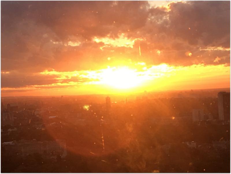 puesta de sol desde el London Eye en Londres