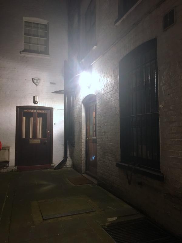 callejon de la barbería de Sweeney Todd en Londres