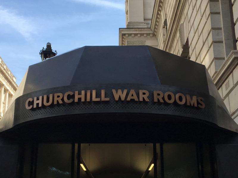 entrada a las Habitaciones de Churchill en Londres