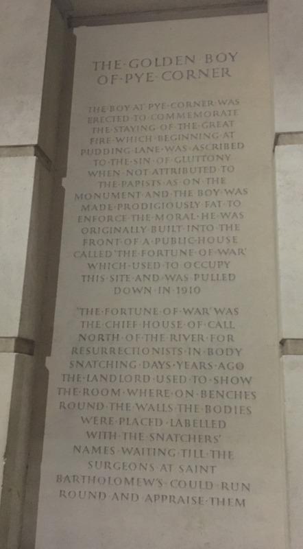 placa que señala el pub donde se compraban cadáveres en Londres