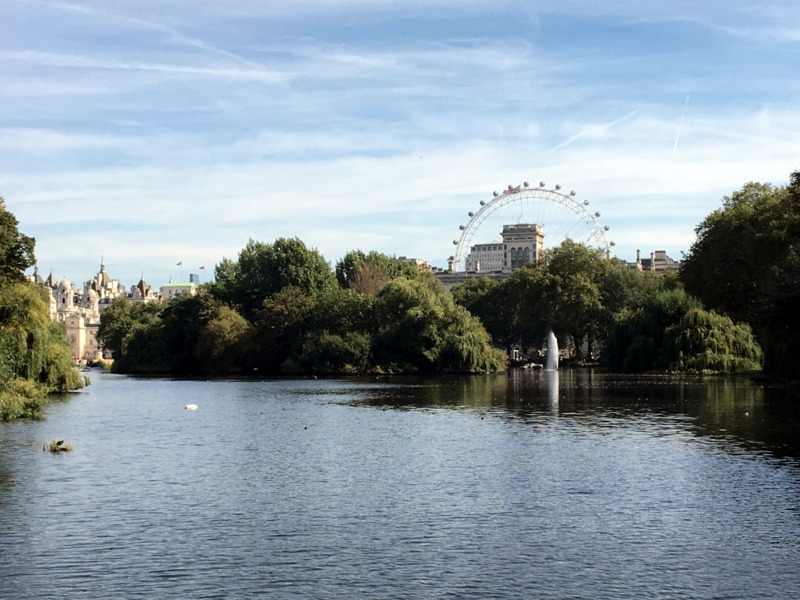 vista del London Eye desde St. James Park