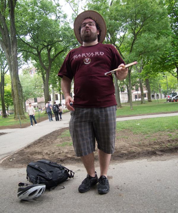 nuestro guía en la Universidad de Harvard