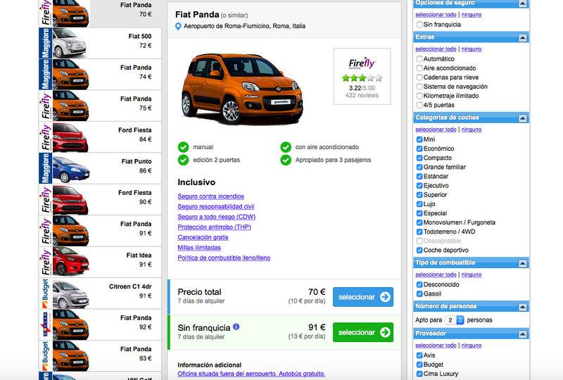 EasyTerra 6 - opciones coche