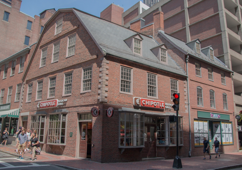 edificio de Old Corner Bookstore en Boston