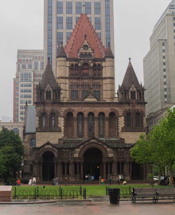 fachada de la Trinity Church de Boston