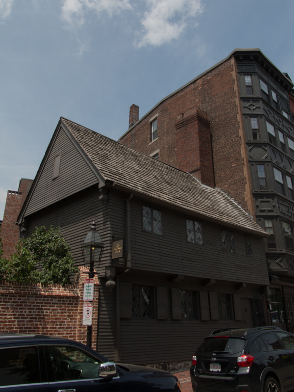 fachada de la casa de Paul Revere en Boston