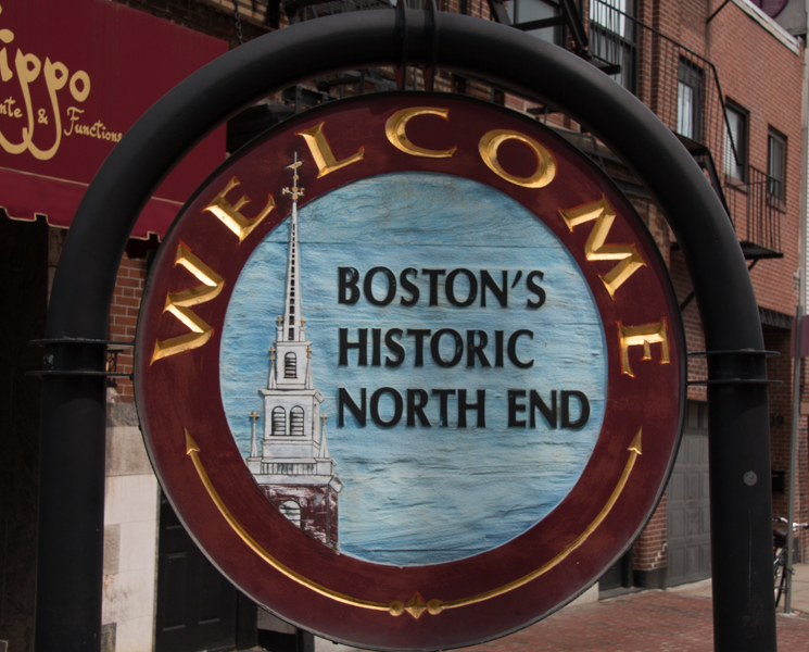 señal del Historic North End de Boston