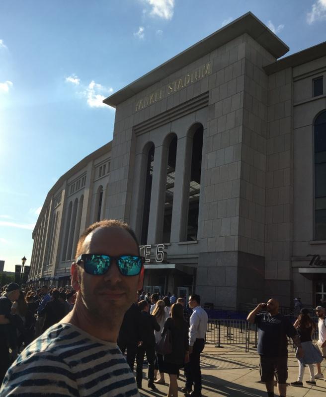 Sergio en el estado de los Yankees en Nueva York