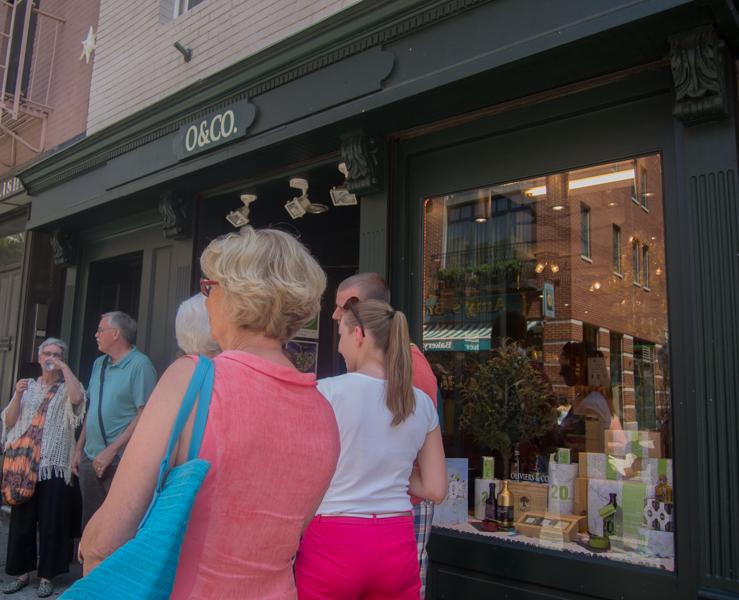 exterior de la tienda O & Co. Olive de Nueva York