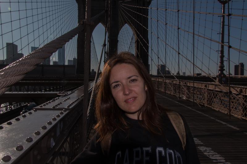Lidia en el Puente de Brooklyn