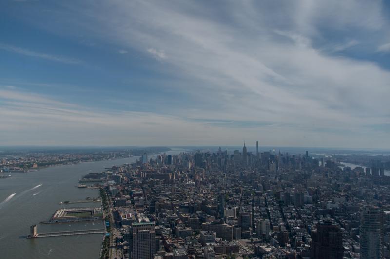 vista de Manhattan desde el One World Observatory de Nueva York1