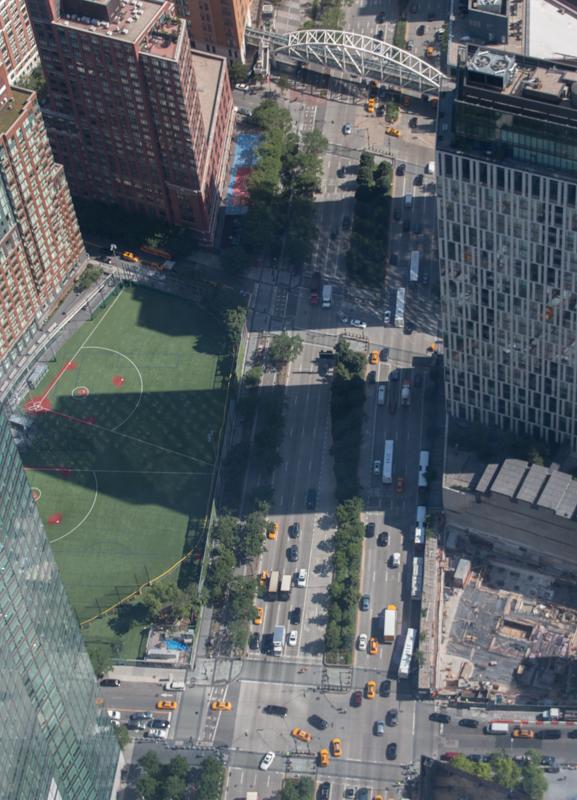 vista del suelo desde el One World Observatory de Nueva York