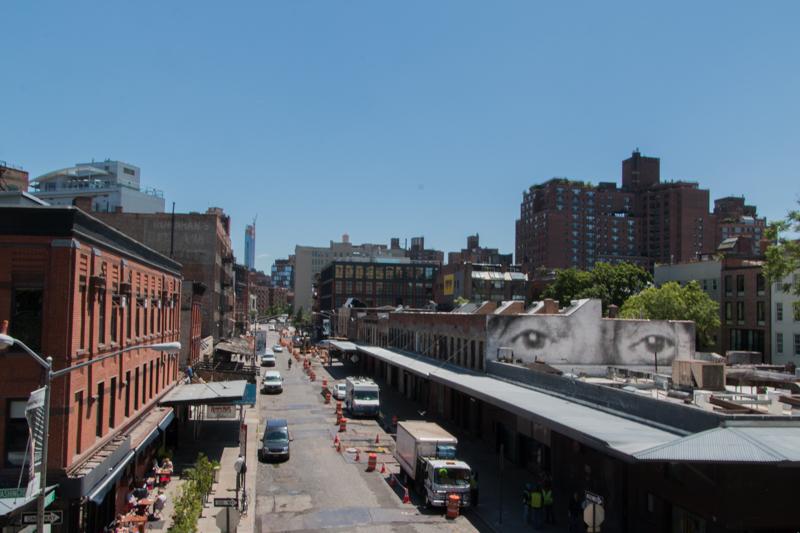 vistas del Gansevoort Market desde el High Line de Nueva York