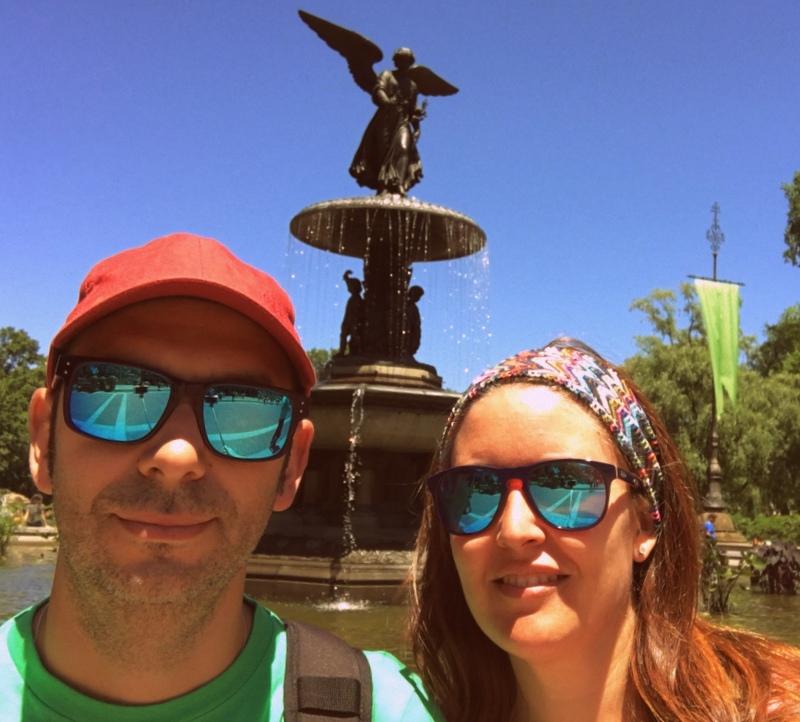 Sergio y Lidia en Bethesda Fountain del Central Park de Nueva York