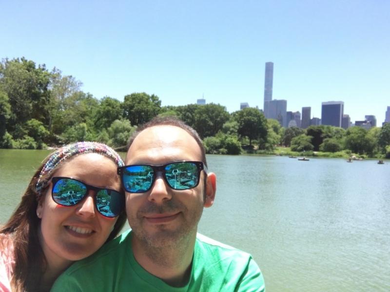 Sergio y Lidia en el Hernshead de Central Park en Nueva York
