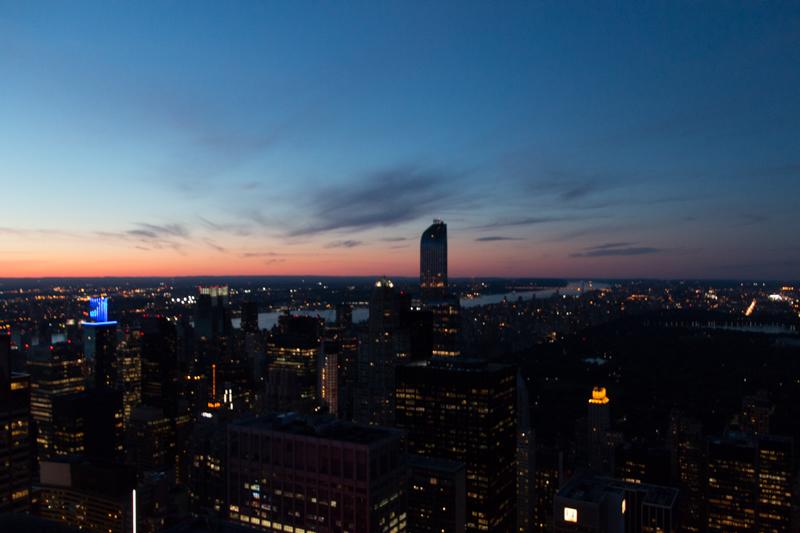 puesta de sol desde el TOR de Nueva York 2