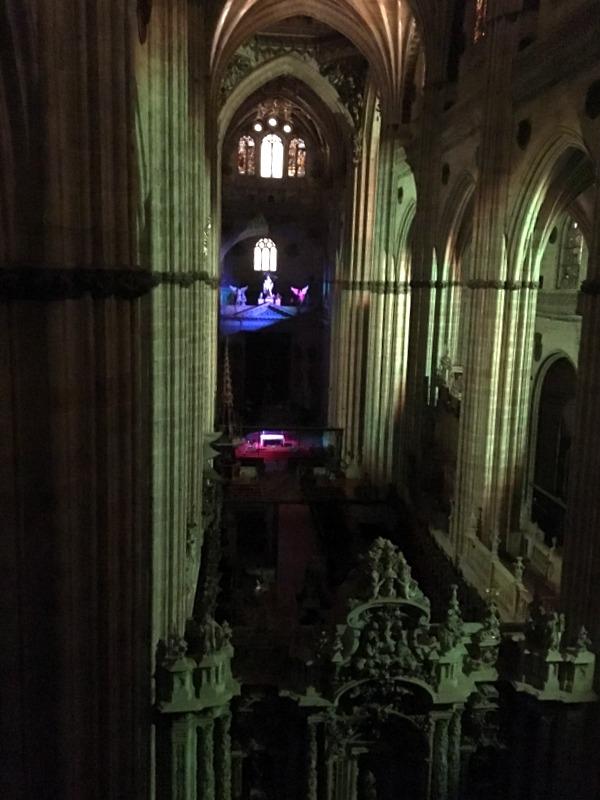 interior de la Catedral Nueva de noche