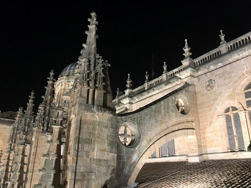 vistas nocturnas desde la terraza de la Catedral de Salamanca 3