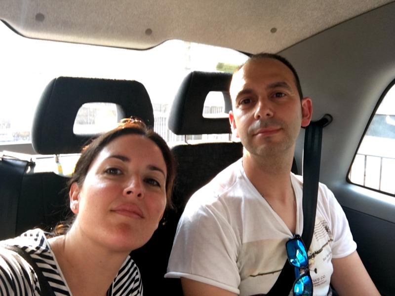 en el taxi de Londres