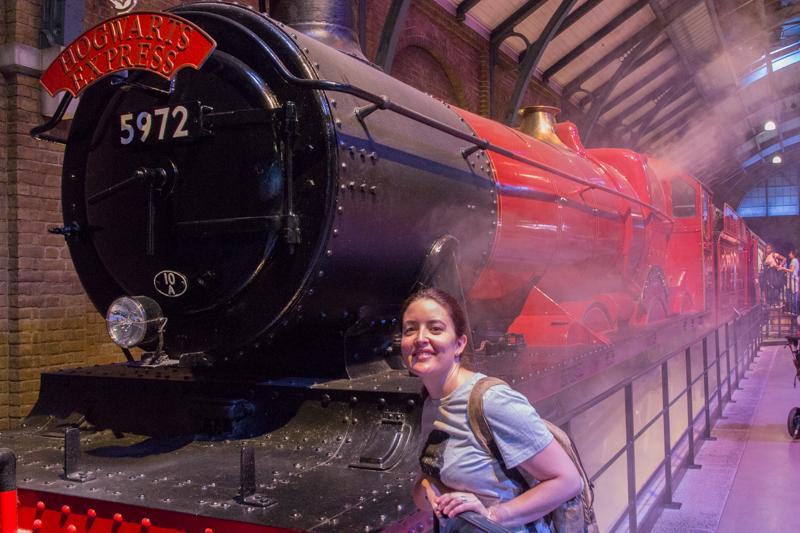 Lidia con el Expreso de Hogwarts HP