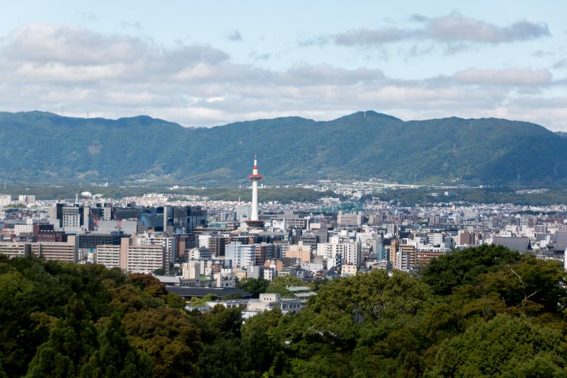 vistas de Kioto desde Templo Kiyiomizudera