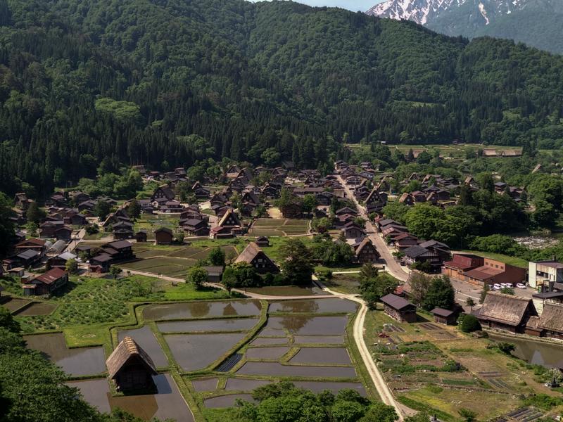 Shirakawago desde el punto de observación 1