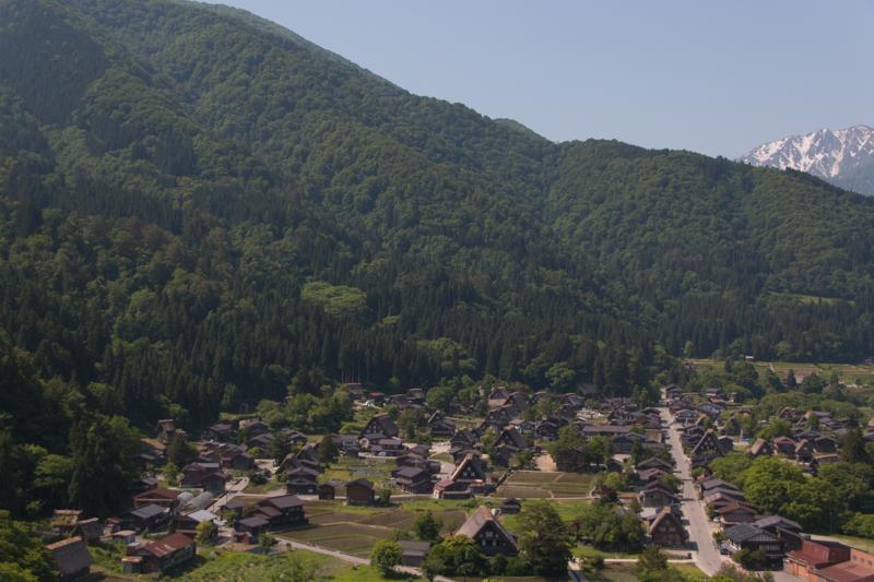 Shirakawago desde el punto de observación 2