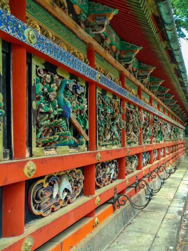 tallas de madera del Santuario Toshogu Nikko