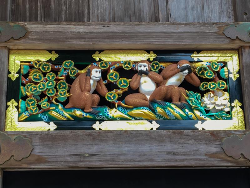 3 monos de la sabiduría del Santuario Toshogu Nikko