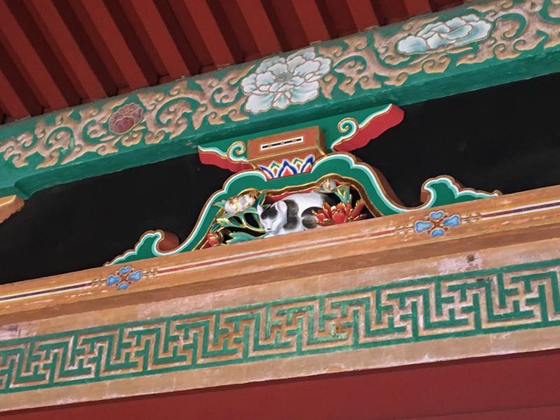 gato dormido del Santuario Toshogu Nikko