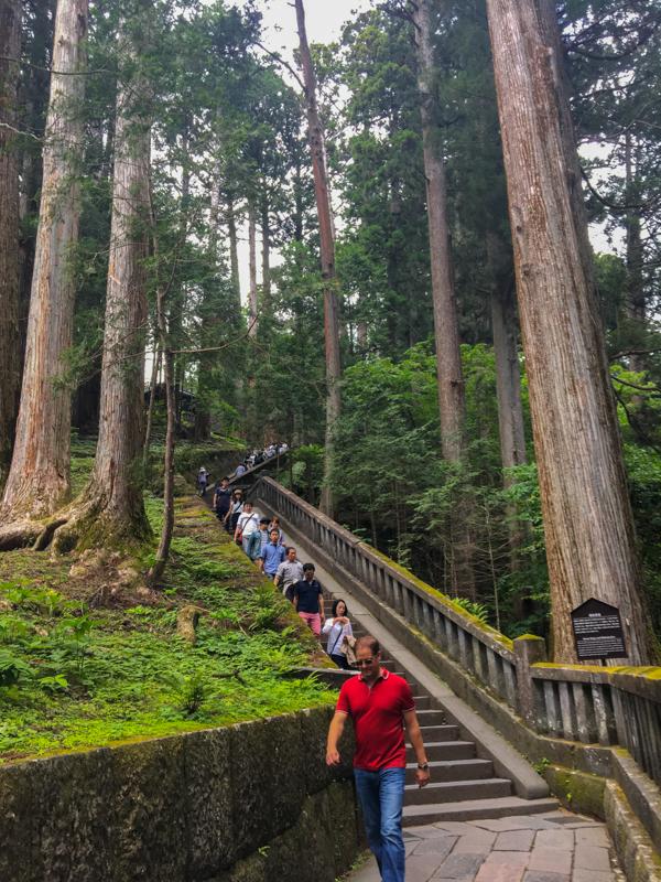 escaleras del Santuario Toshogu Nikko