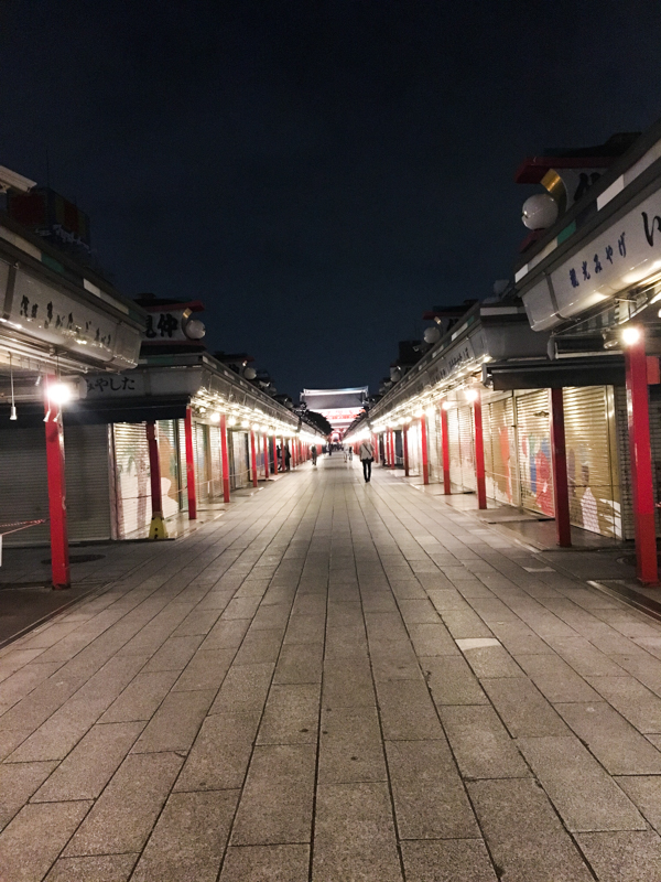 Nakamise Dori de noche